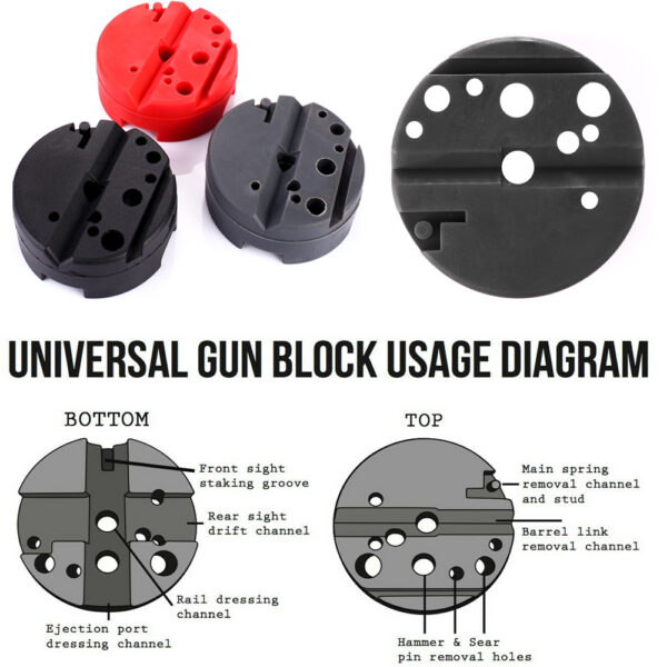 Universal Gunsmithing Bench Block Handgun Pistol M1911 Ruger 10 22s Style Reassemble Firearm Assembly Hunting Accessories 1