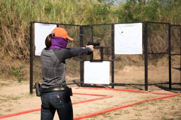 woman clothing for gun range